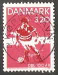 Sellos del Mundo : Europa : Dinamarca : Federacion de football