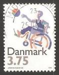 Sellos del Mundo : Europa : Dinamarca : 25 años de la organizacion de deportes para personas discapacitadas