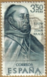 Sellos de Europa - España -  F. Juan de Zumarraga, Mexico - Forjadores de America
