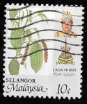 Sellos de Asia - Malasia -  Selangor-cambio