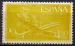 Sellos de Europa - España -  ESPAÑA 1955 1176 Sello Super Constellation y Nao Santa Maria Usado