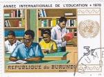 Stamps Burundi -  AÑO INTERNACIONAL DE LA EDUCACIÓN