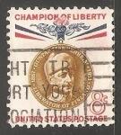 Sellos de America - Estados Unidos -  champion of liberty -Baron Gustaf Mannerheim