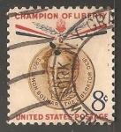 Sellos de America - Estados Unidos -  champion of liberty - Simon Bolivar