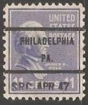 Stamps United States -  James K. Polk