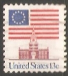 Stamps United States -  Bandera sobre Independence Hall