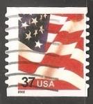 Sellos de America - Estados Unidos -  Bandera