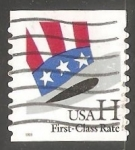 Stamps United States -  Bandera First Class
