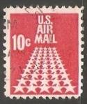 Sellos de America - Estados Unidos -  Estrellas en la pista