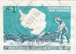 Sellos de America - Chile -  Xº ANIVERSARIO DEL TRATADO ANTARTICO