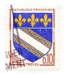 Stamps France -  troyes