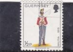 Sellos de Europa - Reino Unido -  GUERNSEY-MILITAR