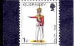 Stamps United Kingdom -  GUERNSEY-MILITAR
