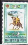 Sellos de Europa - Bhután -  CENTENARIO DE LA UNION POSTAL
