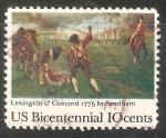 Sellos de America - Estados Unidos -  Batallas de Lexington y Concord