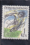 Sellos de Asia - Checoslovaquia -  Tenis de mesa- ilustración