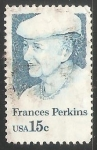 Stamps United States -  Frances Perkins
