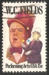 Stamps United States -  W. C. Fields
