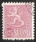 Sellos de Europa - Finlandia -  León (heráldica)