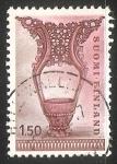 Stamps Finland -  Copa de madera