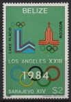 de America - Belice -  XIII  JUEGOS  OL�MPICOS  DE  INVIERNO  LAKE  PLACID  1980.  EMBLEMAS.