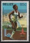 de America - Belice -  XIII  JUEGOS  OL�MPICOS  DE  INVIERNO  LAKE  PLACID  1980.  CARRERA  DE  PISTA.