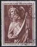 Sellos de Europa - Francia -  1654 - Escultura en la Catedral de Strasbourg