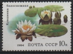 Stamps Russia -  PLANTAS  ACUÁTICAS.  WHITE  NYMPHAEA.