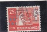 Sellos de Asia - Indonesia -  pelita-roca sedimentaria