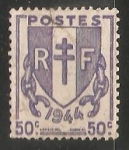Stamps France -  Escudo