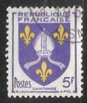 Stamps France -  Escudo de armas - Saint Tonge
