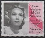 Sellos de America - México -  ÍDOLOS  DEL  CINE  MEXICANO.  DOLORES  del  RÍO.