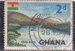 Sellos de Africa - Ghana -  rio Volta