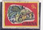 Sellos del Mundo : Africa : Ghana : camaleón