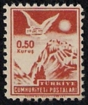 Stamps Turkey -  Palomasobre la ciudad de Ankara