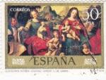 Sellos de Europa - España -  DESPOSORIOS MISTICOS VENERABLE AGNESIO-Juan de Juanes (25)