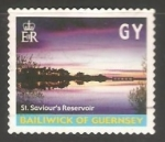 Stamps United Kingdom -  Guernsey - St. Saviours reservoir