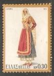 Sellos de Europa - Grecia -  Traje tipico femenino de la isla de Salamina