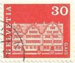 Stamps Switzerland -  EDIFICIOS. CONJUNTO DE CASAS EN GAIS. YVERT CH 819