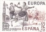 Sellos de Europa - España -  EUROPA CEPT-baile popular La Jota (25)