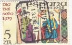 Stamps Spain -  Dia del sello-correo del rey s.XIII (25)