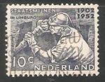 Sellos del Mundo : Europa : Holanda : Maquinaria pesada - mineria