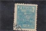 Sellos del Mundo : America : Brasil : trigo