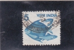 Stamps : Asia : India :  PECES