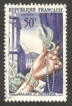 Sellos de Europa - Francia -  973 - Obra de arte, broche