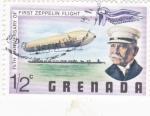 Sellos de America - Granada -  75 aniversario del primer Zeppelin