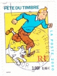 Stamps France -  TINTIN Y MILU