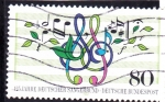 Stamps : Europe : Germany :  NOTAS MUSICALES