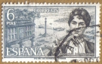 Stamps Spain -  Rosalia de Castro