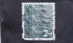 Stamps United Kingdom -  SILUETA LEONES